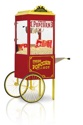 Antieke popcornmachine